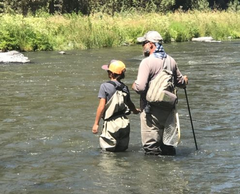 fly fishing lessons with kids